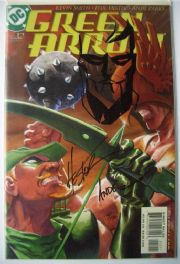 Green Arrow #12 Dynamic Forces DF Signed Ande Parks & Phil Hester Remarked COA #4 Ltd 199 TV Series DC comic book